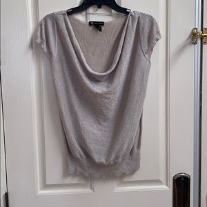 INC Sparkly Silver Loose fitting shirt